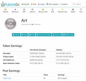 new social media Publis0x art profile